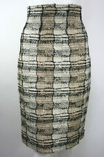 YVES SAINT LAURENT Wool High Waisted Pencil Skirt Boucle RRP £525 Size 10