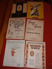 6 Antiker Liederhefte There Is A Ladye Four Songs The Hand Orgel Mann