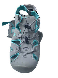 Women Water Shoes size 6 Eddie Bauer Gray /Turquoise