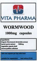 WORMWORD 1000mg 30 capsules PARASITE CLEANSE DIGESTIVE HEALTH DETOX