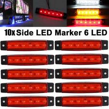 10pcs 24V 6 LED ABS Side Marker Indicators Lights for Truck Trailer Bus Lamp