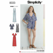 Simplicity Sewing Pattern 8333 SZ 12-20 Misses' Easy Knit Jumpsuit and Dress