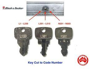 Old B & D Garage Roller Door Keys Cut To Code Number-FREE POST