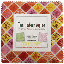 "FANDANGLE Charm Pack (42) 5"" squares 100% Cotton quilting Fabric Benartex"