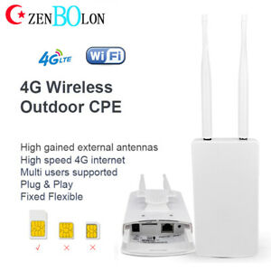 Unlocked CPE LTE Modem 4G Wireless Router Sim Card Mobile WIFI Hotspot Dual Band