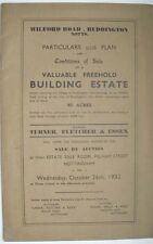 1932 RUDDINGTON VILLAGE NOTTINGHAM LAND AUCTION SALE MAP PLAN WILFORD RD RAILWAY