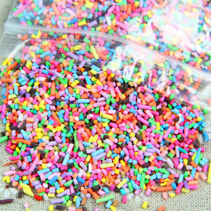 Polymer Clay Fake Topping Sprinkles Dressup Craft Tools DIY Mixed Cool 100g