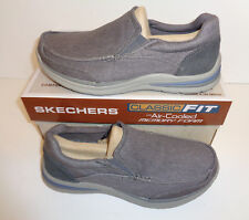 Skechers Superior Milford 64365 Mens Casual Comfy Relaxed Fit Loafers Navy Blue UK 9