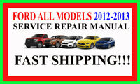 Ford 2012-2013 ALL Models on DVD Repair Factory Workshop Software DVD Manual