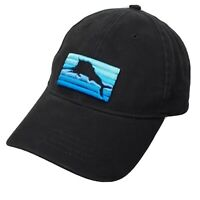 Tommy Bahama Relax Hat Cap OS Black Cotton Thick Embroidered Logo Strapback