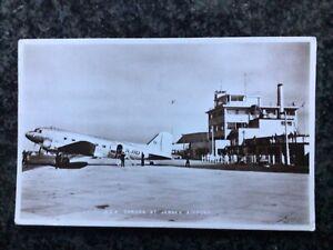 BEA DAKOTA & Jersey Airport - Sepia RP - Used 1965
