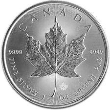 New 2014 Canadian Silver Maple Leaf 1oz Bullion Coin