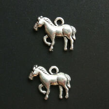 10pc Retro horse Tibetan Silver animal Charms Pendant Bracelet Jewelry