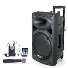 Ibiza Mobile batería Sound apéndice Port - 12vhf Bluetooth USB mp3 SD funk micrófono 700w
