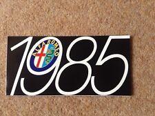 ALFA ROMEO range 1985 UK Market brochure - Arna 33 Giulietta Sprint GTV GTV6 90