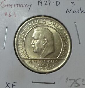 Germany Weimar Lot of Five Commemorative Silver Coins NO RESERVE