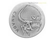 20 $ Dollar Ancient Canada Ornithomimus argent 1 once Finition Antique 2017