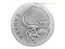 20 $ Dollar Ancient Canada Ornithomimus Kanada 1 oz Silber Antique Finish 2017
