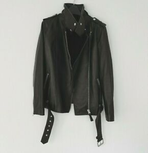 Mackage Leather Jacket Small Black Boyfriend Relaxed fit