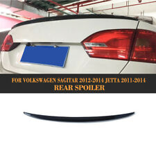 Carbon Fiber Trunk Boot Spoiler Lip Wing Fit For VW Jetta 11-14 Sagitar 12-14