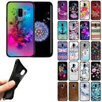 """For Samsung Galaxy S9 Plus 6.2"""" Flexible TPU Black Silicone Soft Gel Cover Case"""