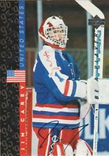 JIM CAREY AUTO 1995-96 UPPER DECK BE A PLAYER ON CARD AUTOGRAPH # S189 CAPITALS