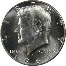 1969 D 50c Kennedy Silver Clad Half Dollar US Coin BU Uncirculated Mint State