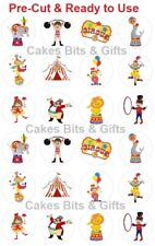24x CIRCUS THEME Edible Wafer Cupcake Toppers PRE-CUT Ready to Use