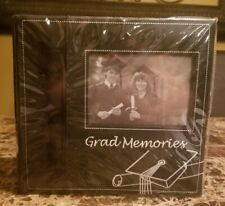 New Embroidered Grad Memories Photo Album Book Black By Amscan Holds 200 4x6