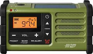 Sangean SG-112 AM/FM Multi-Powered Weather Emergency Radio Green-Black