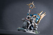 Sage (Librarian) on bike.Conversion set for Space Marine Bike power weapons inc.