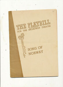 M1477 14946 STAGE THEATRE  THE PLAYBILL PROGRAM BROADWAY SONG OF NORWAY