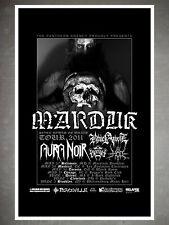 Marduk Aura Noir Seven Bowls of Wrath 2011 Tour Promo 11x17 Poster Flyer
