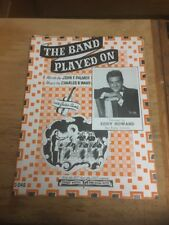 Vtg Sheet Music: The Band Played On, Eddy Howard 1941