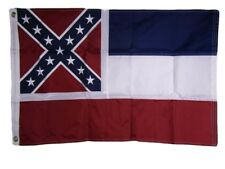 2x3 Embroidered State of Mississippi Ms 210D Sewn Nylon Flag 2'x3'