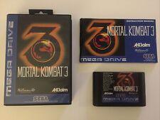 Sega Mega Drive Spiel Mortal Kombat 3 CIB / OVP Sammlungsauflösung