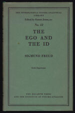1950 Vtg Sigmund Freud Ego & the Id Psychoanalysis Early Printing HC Dust Jacket