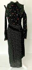 TOP SHOP multicolor black floral long sleeve dress size XS