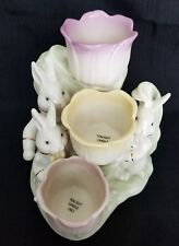 New W/Tags Spring Lenox Occasions Easter Tulip Tea light Holder Rabbit, Bunnies