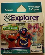 LeapFrog Explorer Learning Game Sesame Street: Solve It with Elmo, etc.