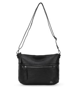 The Sak Oleta Black Leather Crossbody Women's Handbag 84336