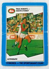 1989 Scanlens Stimorol Rugby League Card 80 Paul Roberts South Sydney Rabbitohs