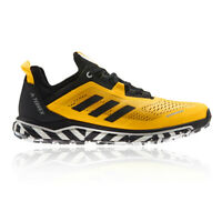 adidas Mens Terrex Agravic Flow Trail Running Shoes Trainers Sneakers Yellow