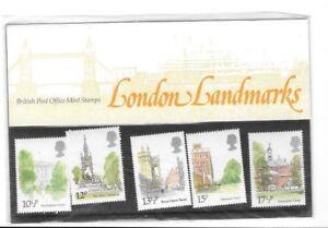 Royal Mail Presentazione Confezione 118 Londra Luoghi D'Interesse 1980 MNH