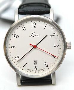 Laco Halle 40 Laco15 Automatik 862072 Bauhaus Auto Stainless Steel Germany Watch