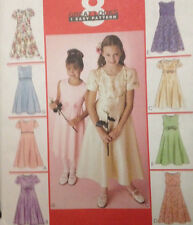 McCalls 2590 - Girl's Special Occasion Dress in Several Designs - Sizes 3-4-5