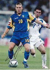 ANDRIY VORONIN UKRAINE INT 2002-2012 ORIGINAL HAND SIGNED LARGE PHOTOGRAPH