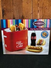 Hot Dog Toaster Oven Coca-Cola 2-Slice Red Party Sausage Cooker Home Kitchen Fun