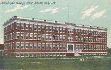 c1910 American Bridge Company Works, Gary, Indiana Postcard