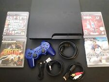 Sony PlayStation 3 Slim 160GB Bundle PS3 Console CECH-3001A - 4 Games -
